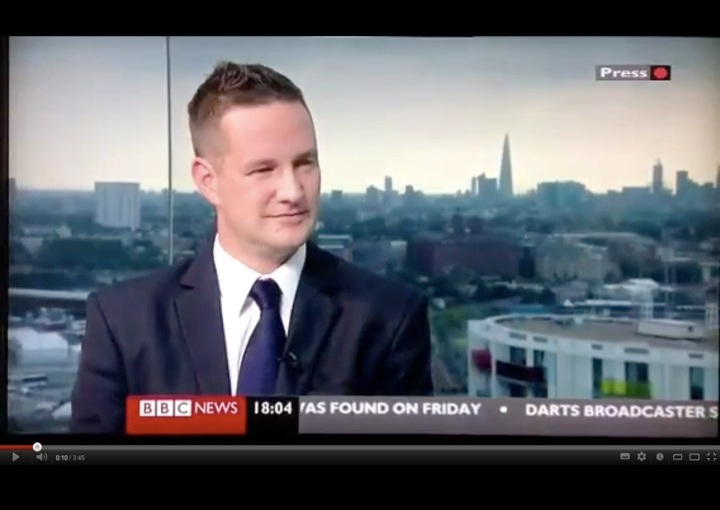 BBC News interview about the legacy of the 2012Olympics