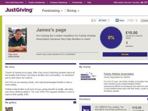 justgiving page