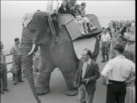 An elephant delighting tourists in Margate (Thanks to Geoff Orton @ Margate Civic Society)