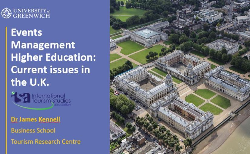 Events Management Higher Education: Current issues in theU.K.